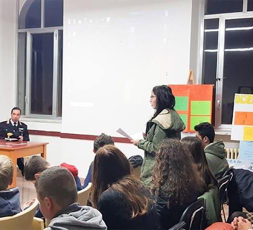 Convegno Legal-mente a Pescolanciano – spazio dedicato alle domande dei ragazzi