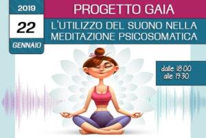 Formazione Progetto Gaia l'utilizzo del suono nella meditazione psicosomatica 22 gennaio 2019- crescita personale associazione Pianeta Giovani Isernia