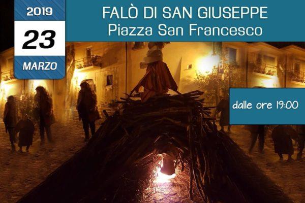 Falo di San Giuseppe in Piazza San Francesco a Venafro organizzato dall'associazione Pianeta Giovani Isernia in collaborazione con l'associazione Auto Aiuto e dintorni