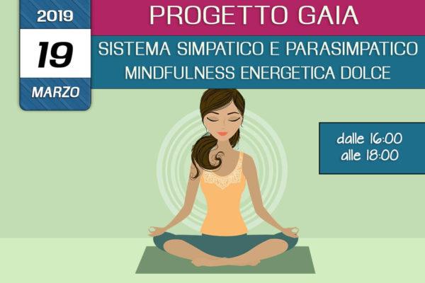 Formazione Progetto Gaia –  Teoria dei sistemi simpatico e parasimpatico – Mindfulness enegetica dolce