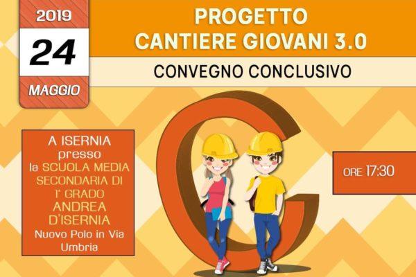 """Convegno conclusivo del Progetto """"Cantiere Giovani 3.0 per la prevenzione del disagio giovanile -24 Maggio 2019 a Isernia – associazione Pianeta Giovani"""