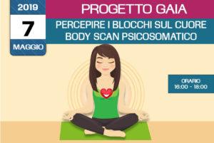 Formazione Progetto Gaia – percepire i blocchi sul cuore – body scan psicosomatico 7maggio2019 a Isernia organizzato dall'associazione Pianeta Giovani