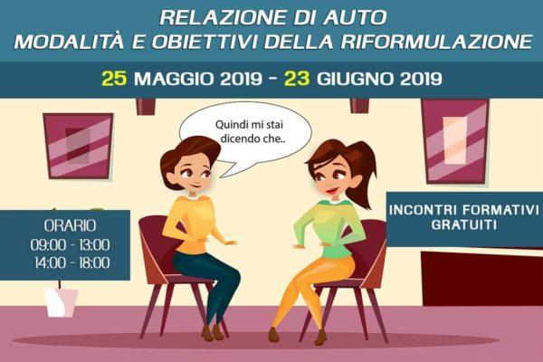 Incontro gratuito – Modalita e obiettivi della riformulazione nella Relazione di aiuto - 25 Maggio 2019 a Pescolanciano – associazione Pianeta Giovani