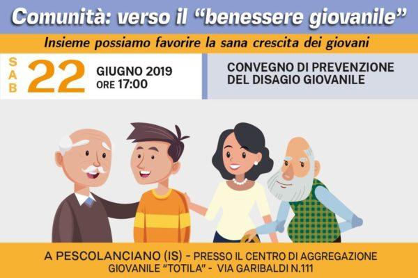 """Comunità: verso il """"benessere giovanile""""- convegno conclusivo del progetto Totila 2.0 – a Pescolanciano IS"""