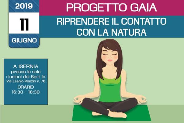 Ricontattare la natura - formazione Progetto Gaia - incontro formativo gratuito - 11 Giugno 2019 a Isernia - organizzato dall'associazione Pianeta Giovani