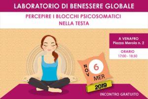 Laboratorio di Benessere Globale 6 novembre 2019 - incontro gratuito a Venafro - associazione Pianeta Giovani