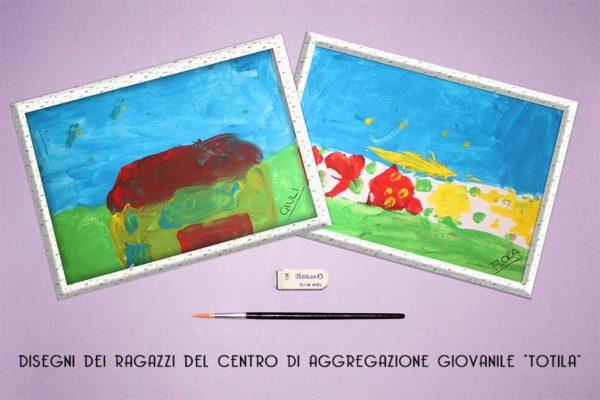 Laboratorio di pittura – Centro di aggregazione Giovanile Totila