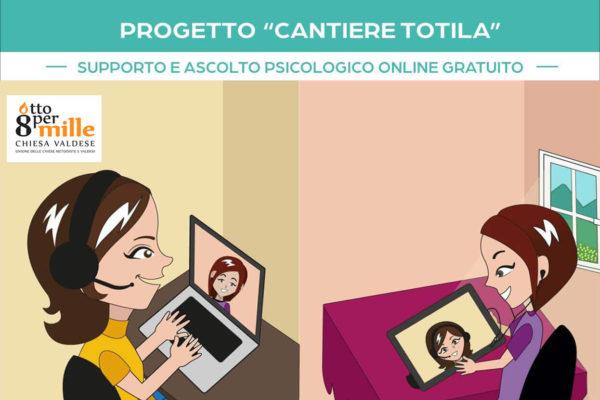 Supporto e ascolto psicologico online gratuito - associazione Pianeta Giovani Progetto Cantiere Totila