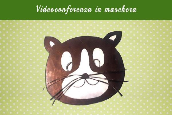 Videoconferenza online in maschera