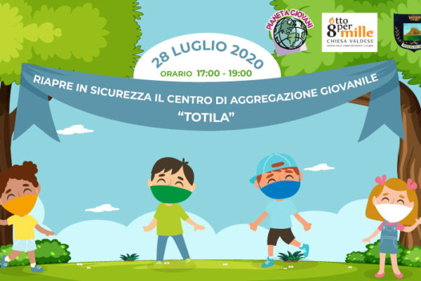 Riapre in sicurezza il C.A.G. Totila di Pescolanciano il 28 luglio 2020 - progetto Cantiere Totila, finanziato dall'8x1000 della Chiesa Valdese - Associazione Pianeta Giovani