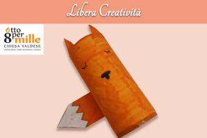 Rotolo volpe - Libera creatività - Attivita online Centro Totila - Associazione Pianeta Giovani