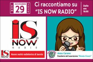 L'Associazione Pianeta Giovani si racconta su IS NOW RADIO - Domenica 29 novembre 2020 dalle ore 16:00