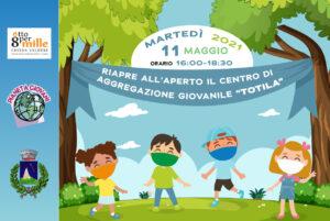 Oggi pomeriggioripartono le attivita all'aperto del centro di aggregazione giovanile Totila di Pescolanciano - associazione Pianeta Giovani